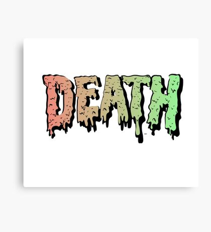 Death - Graffiti. Song Mashup Canvas Print