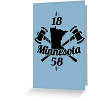 Minnesota 1858  ~ Black Greeting Card
