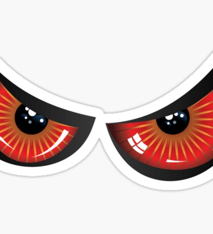 Evil red eyes Sticker