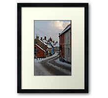 Bridge Street, Bungay, Suffolk, UK Jan 2010 Framed Print