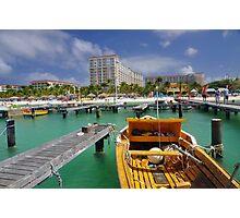 Hardicurari Wharf and Surf Club Resort Aruba Photographic Print