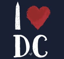 I Heart DC (remix,white) by Tai's Tees One Piece - Short Sleeve