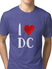 I Heart DC (remix,white) by Tai's Tees Tri-blend T-Shirt