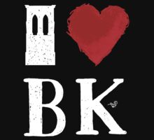 I Heart Brooklyn (remix, white) by Tai's Tees One Piece - Short Sleeve