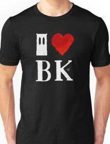 I Heart Brooklyn (remix, white) by Tai's Tees Unisex T-Shirt