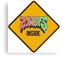 Zombies Inside Canvas Print