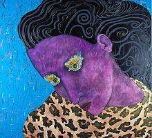 Purple Animal Girl by Lizetteart