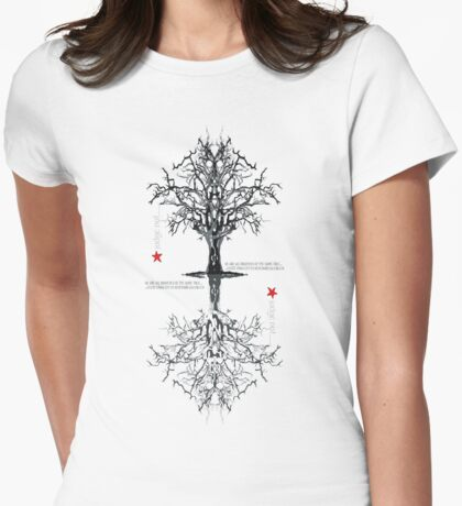 AS ABOVE, SO BELOW !!! Womens Fitted T-Shirt