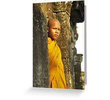 Young cambodian Monk Greeting Card
