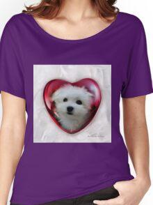 Hermes the Maltese - Valentine Boy ! Women's Relaxed Fit T-Shirt
