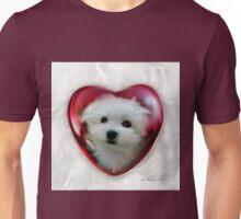 Hermes the Maltese - Valentine Boy ! Unisex T-Shirt