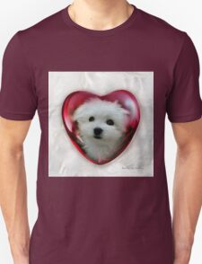 Hermes the Maltese - Valentine Boy ! T-Shirt