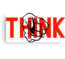 YOU, THINK! by Tai's Tees Canvas Print