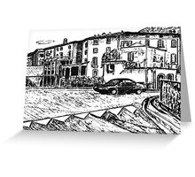 On The Road In Italy Greeting Card