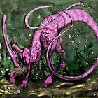 Pink Parasaurolophus by Glendon Mellow