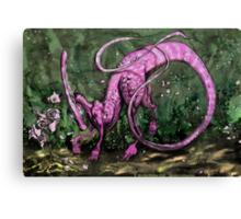 Pink Parasaurolophus Canvas Print