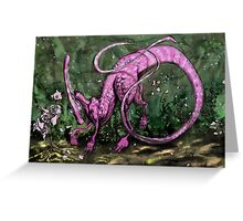Pink Parasaurolophus Greeting Card