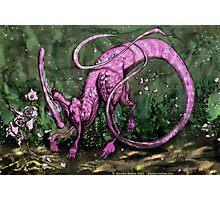 Pink Parasaurolophus Photographic Print