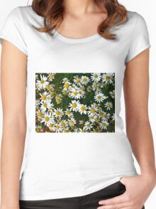 Little Chamomiles 2 Women's Fitted Scoop T-Shirt