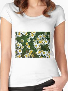 Little Chamomiles 4 Women's Fitted Scoop T-Shirt