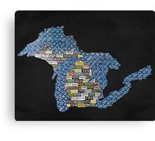 Great Plate State black  Canvas Print