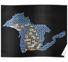 Great Plate State black  Poster