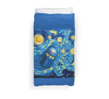 Space and time traveller phone box Starry the night Cartoons Duvet Cover