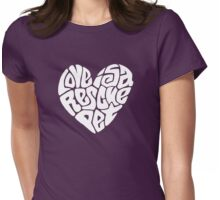 Love Is A Rescue Pet Womens Fitted T-Shirt
