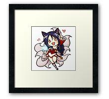 Cute Ahri chibi Framed Print
