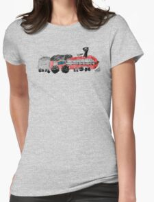 a train drawn by a kid Womens Fitted T-Shirt