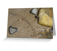 A Heart Among the Sea Rocks Greeting Card