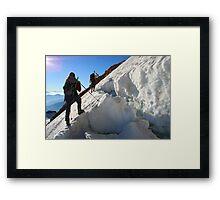 dangerous climbing Framed Print