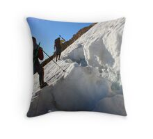 dangerous climbing Throw Pillow