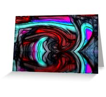 Abstract reflections Greeting Card