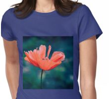 Lonely poppy Womens Fitted T-Shirt
