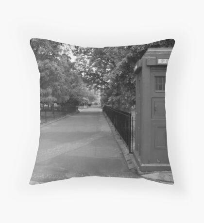 Police Box Throw Pillow