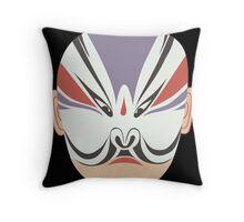 china mask 4 black Throw Pillow