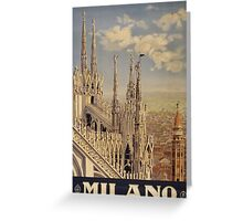 Milano' Vintage Poster (Reproduction) Greeting Card