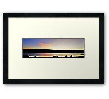 WET SUNSET.... Framed Print