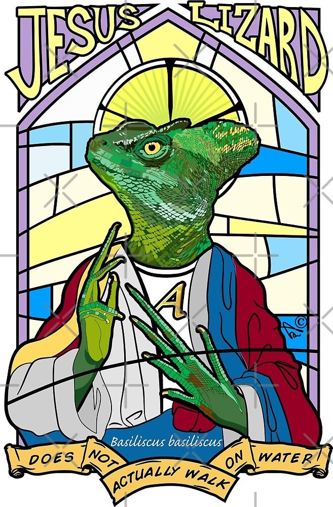 Jesus Christ Lizard by Tai's Tees by TAIs TEEs