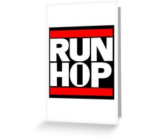 Run HIP HOP mashup - Alternative version Greeting Card