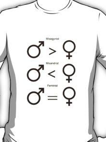 Misogynist, Misandrist, and Feminist T-Shirt