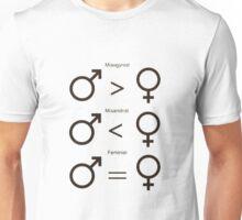 Misogynist, Misandrist, and Feminist Unisex T-Shirt