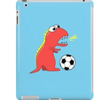 Funny Cartoon Dinosaur Soccer iPad Case/Skin