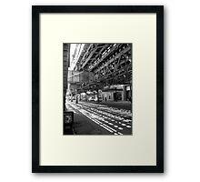 CHICAGO EL - LAKE STREET Framed Print