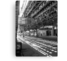 CHICAGO EL - LAKE STREET Canvas Print