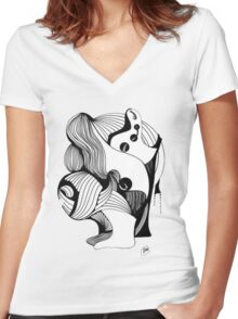 Abstract Moments Women's Fitted V-Neck T-Shirt