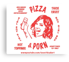 Pizza & Porn Canvas Print