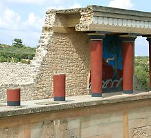 Knossos on Crete by Anne-Marie Bokslag