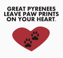 Great Pyrenees Leave Paw Prints On Your Heart Kids Clothes
